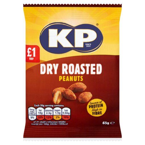 KP Dry Roasted Peanuts 65g