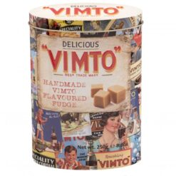 Vimto fudge tin