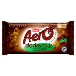 aero dark and milk peppermint